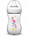 MAMADEIRA PETALA DECORADA 260ML FLAMINGO AVENT SCF070/21
