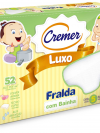 FRALDA LUXO COM BAINHA CREMER BRANCA C/5 UNIDADES 379433
